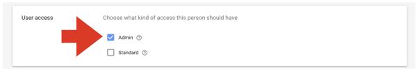 Google Merchant Center user access