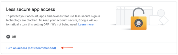 Providing external apps access to your Google outbound mail settings